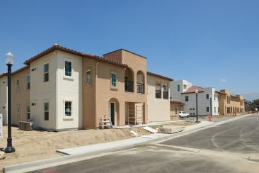 Construction at the HACSB project in Redlands, CA.